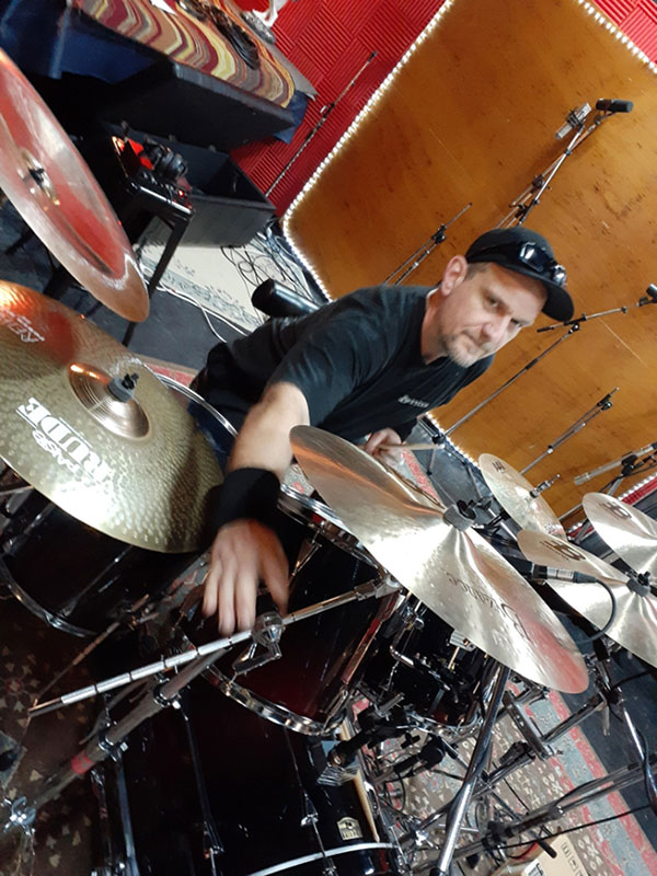 Rob on Drums