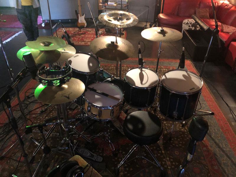 Chris' drums