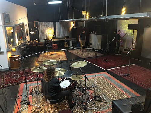 Session Setup at Damien Gerard Studios