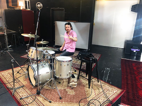 Evan Mannell with Andrew Beck at Damien Gerard Studios